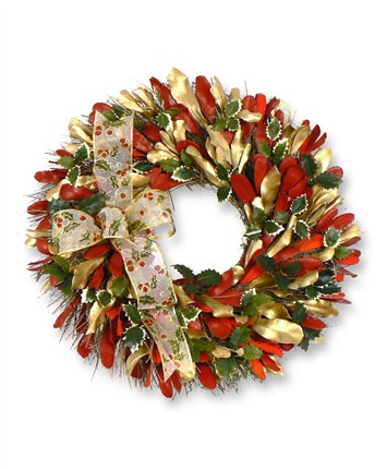 22 inch Golden Holiday Christmas Wreath
