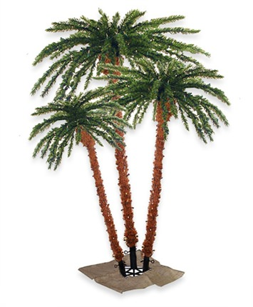 Pre-Lit Artificial Palm Tree