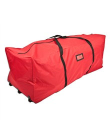 Red Duffel Rolling Christmas Tree Storage Bag