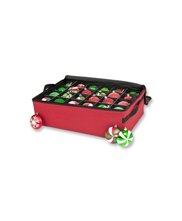 Santa's Bag 2 Tray Chritsmas Ornament Storage Bag