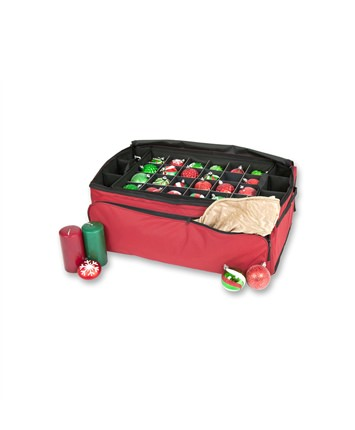 Santa's Bag 3 Tray Christmas Ornament Storage Bag