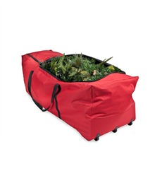 Santa's Rolling Christmas Tree Storage Bag