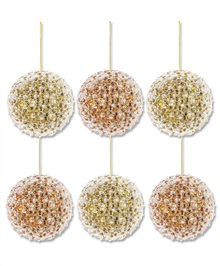 Gold and Copper Beaded Pearl Ornaments