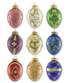 Timeless Treasures Glass Egg Ornament Set
