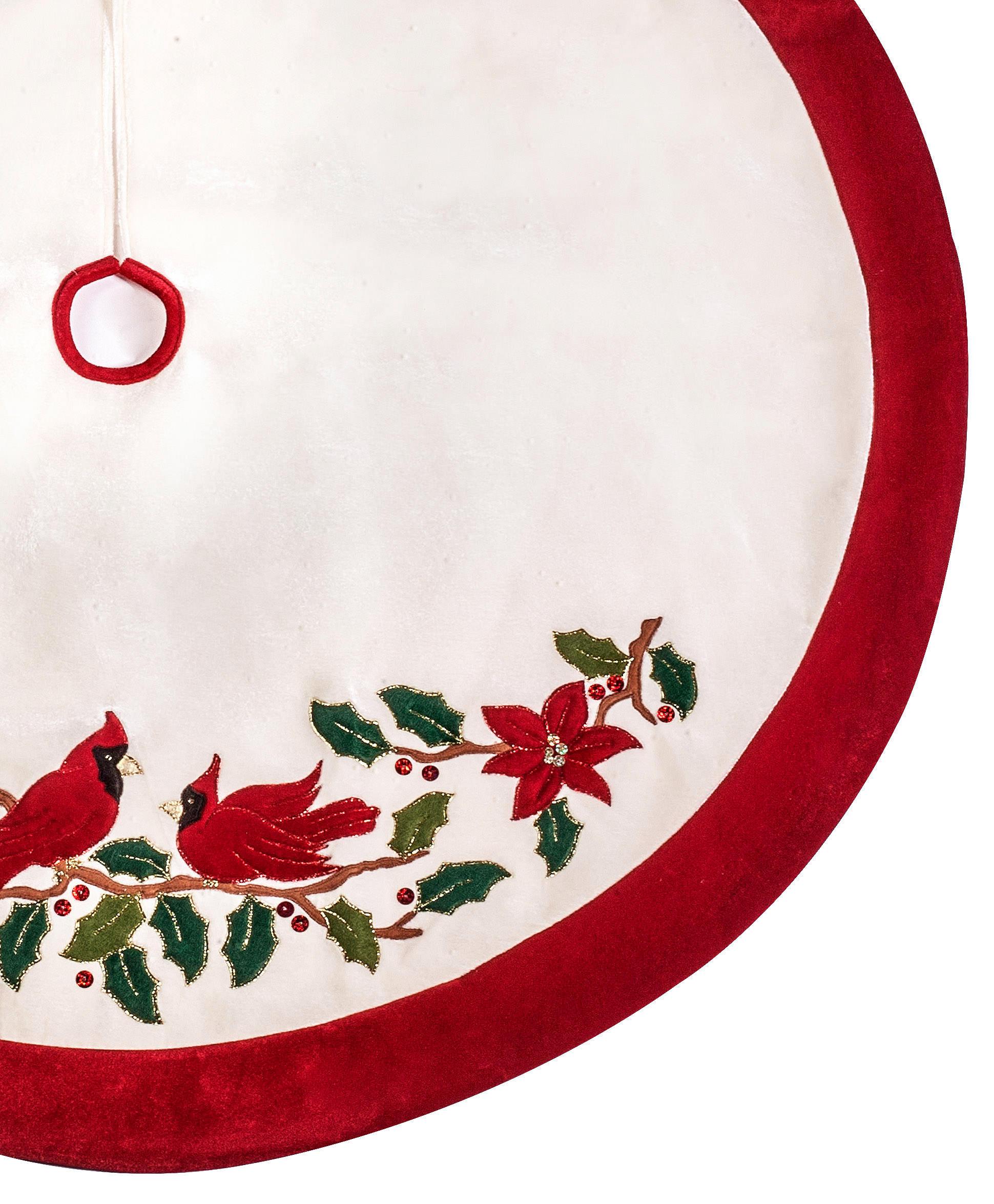 Red Velvet Christmas Tree Skirt