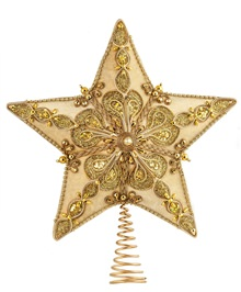 13.5 inch Cream Velour Star Tree Topper