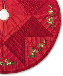 45 inch Quilted Noel Christmas Tree Skirt