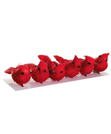 Assorted Mini Cardinal Ornament Set