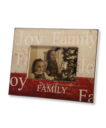 The Joy of Family Picture Frame