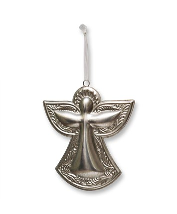 6 Inch Silver Angel Christmas Ornament
