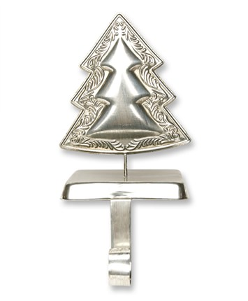 6 Inch Silver Tree Christmas Stocking Hanger