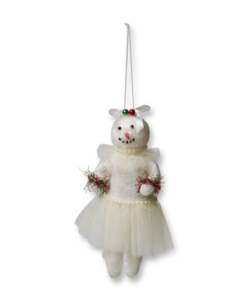 Girl Felt Snowman Christmas Ornament