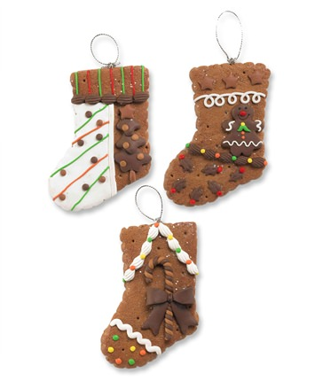 Gingerbread Stocking Christmas Ornaments