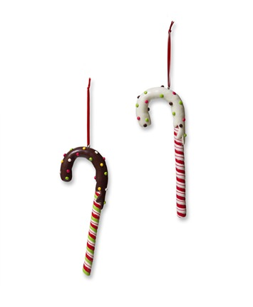 Frosted Candy Cane Christmas Ornaments