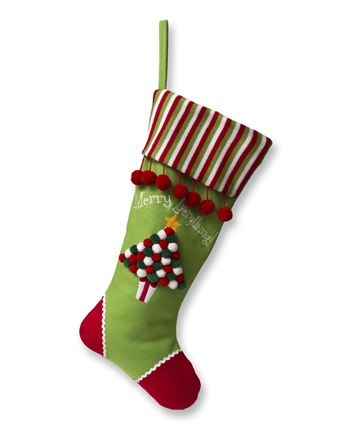 24 Inch Green Tree Christmas Stocking