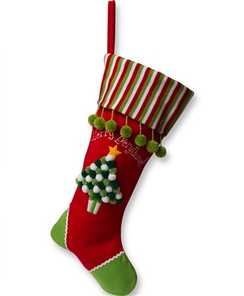 24 Inch Red Tree Christmas Stocking