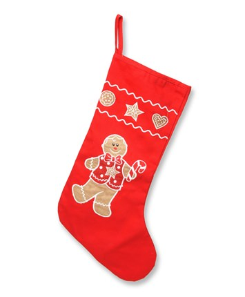 18 Inch Gingerbread Boy Christmas Stocking