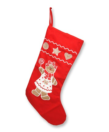 18 Inch Gingerbread Girl Christmas Stocking