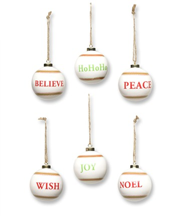 Ceramic Christmas Ball Ornaments