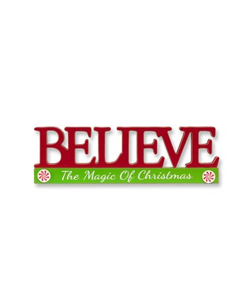 Believe Cutout Christmas Centerpiece