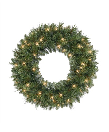 Aster Pre-Lit Christmas Wreath