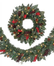 Austrian Spruce Garden Berry Wreaths and Garlands