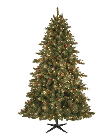Berkeley Fir Gold-Flocked Christmas Tree