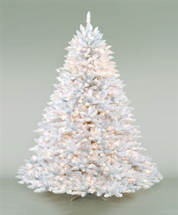 White Ashley Artificial Christmas Tree