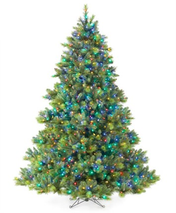 English Fir Prelit Multi Artificial Christmas Tree