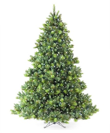 English Fir Led Star Artificial Christmas Tree