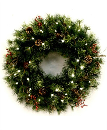 cordless led golden ash wreaths and garlands