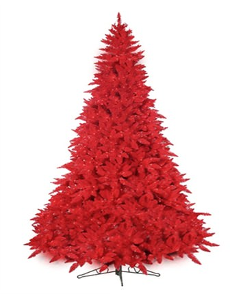 red ashley supreme artificial christmas tree