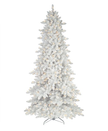 Flocked White Fir Deluxe Christmas Tree