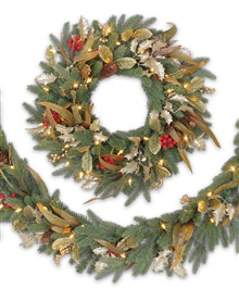 Kennedy Fir Harvest Decorated Wreaths and Garlands