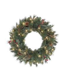 Paley Park Christmas Pine Wreaths and Garlands