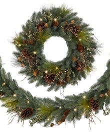 Classic Fraser Fir Festive Wreaths and Garlands