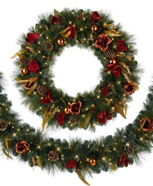Venetian Elegance Christmas Wreath