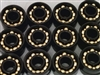 Pack of 100 Skateboard/inline Skate/Roller Hockey Black Open Bearings with Bronze Cage 8x22x7 mm