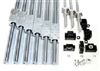 "1x1 Foot CNC Router Ball Screw Kit 12mm Rails and BallScrews XYZ Travel 12"" x 12"" x 10"" inch"