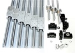 "2'X1' Feet CNC Router Kit 16mm Rails and Ball Screws XYZ Travel 24"" x 12"" x 10"" inch"