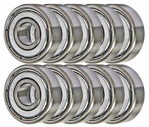 38DD Ball Bearings 8x22x7 Miniature Bearing Pack of 10