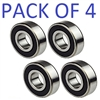6004-2RS  20x42x12 Sealed Ball Bearing Dual Sided Rubber Sealed Deep Groove (4PCS)