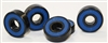 Set of 8 Skateboard Black Bearings with Bronze Cage and Blue Seals 8x22x7 mm