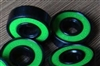 Set of 8 Skateboard Black Bearings with Bronze Cage and green Seals 8x22x7mm