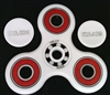 White Fidget Hand Spinners Toy with Center ZrO2 Ceramic Bearing, 2 caps and 3 outer red Bearings