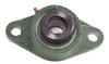 "5/8"" Bearing HCFL202-10   2 Bolts Flanged Housing Mounted Bearing with Eccentric Collar Lock"