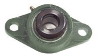 "2 3/8"" HCFL212-38 2 Bolts Flanged Cast Housing Mounted Bearing with Eccentric Collar Lock"