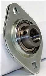 "SBPFL206-18 Pressed Steel Bearing 2-Bolt 1 1/8"" inch Flanged Mounted"