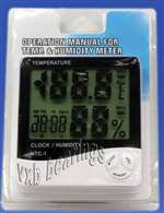 Operating Temperature and Humidity Meter