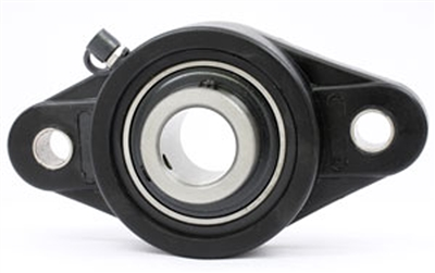 UCNFL202 15mm Bearing Flanged Cast Housing 2 Bolt Mounted Bearings